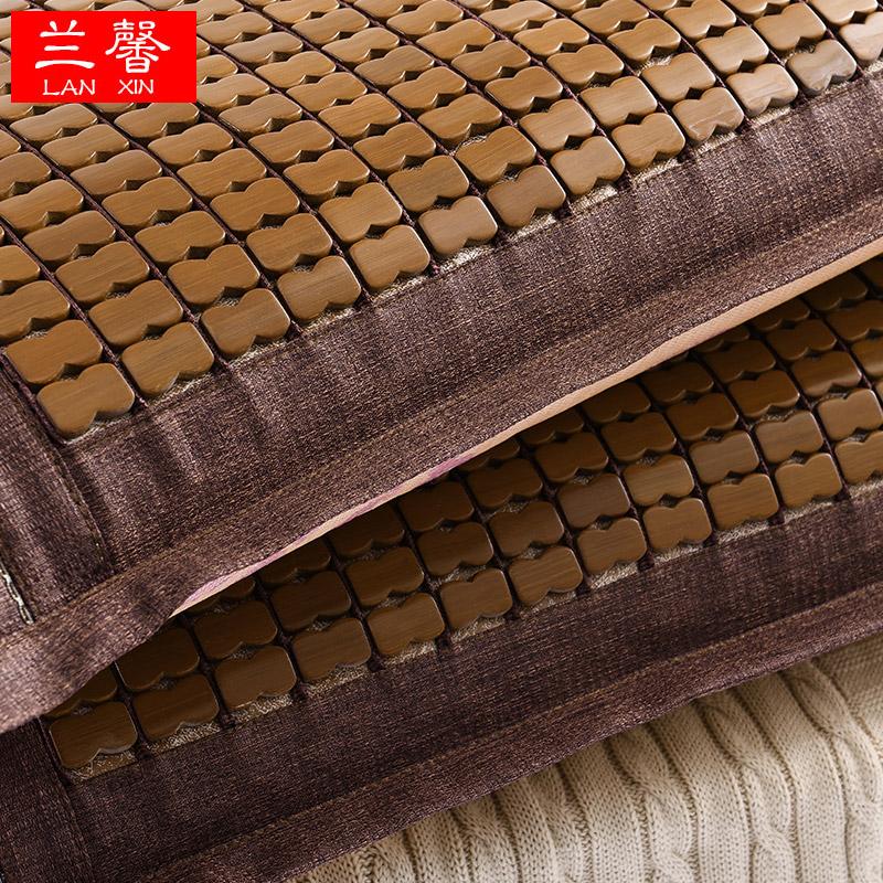 兰馨碳化竹凉席麻将枕头套 夏季凉席枕头套 一对包邮
