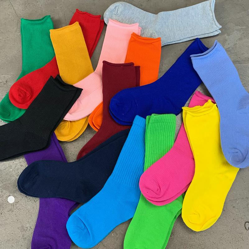 儿童纯色幼儿园彩色纯棉短袖t恤亲子装闺蜜装学生班服表演送袜子