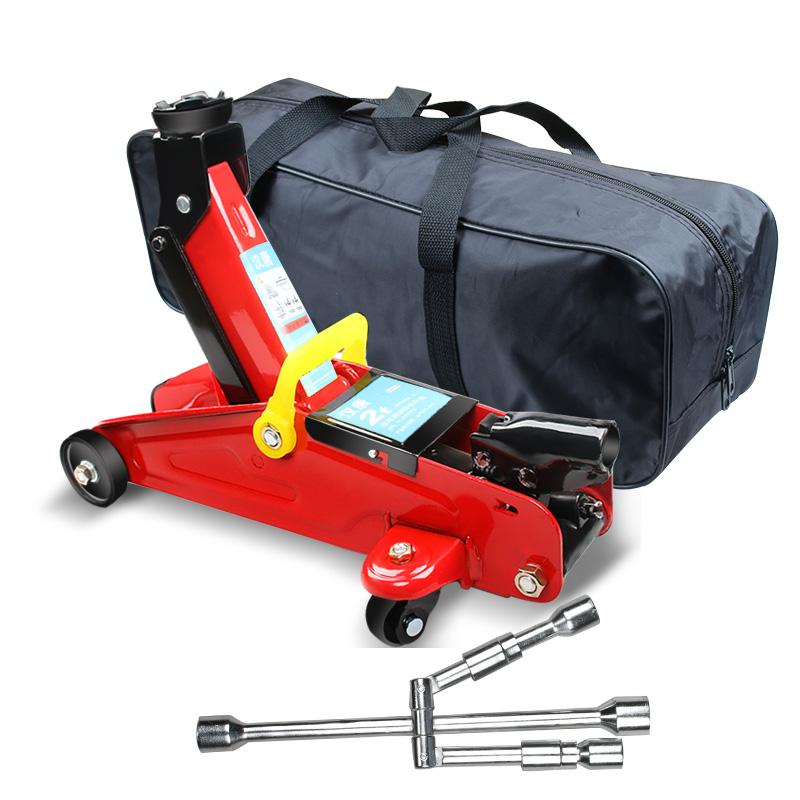 汽车千斤顶卧式小轿车用液压立式2T手摇SUV千金顶3吨车载换胎工具