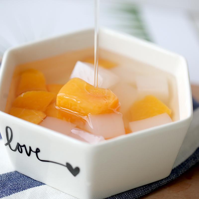林家铺子黄桃罐头水果罐头左右双色椰果罐头整箱混合什锦200g*4罐