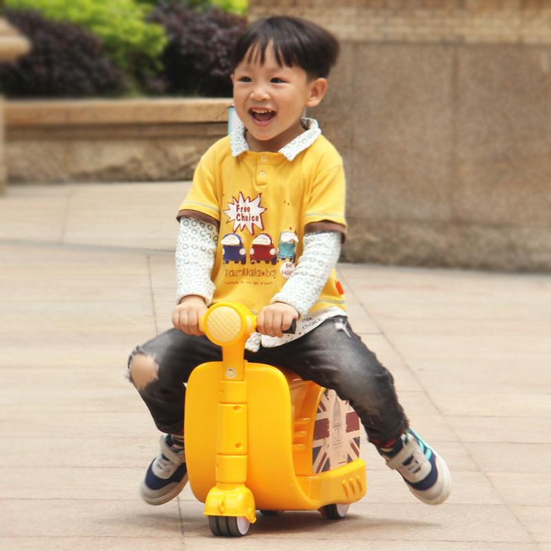 儿童行李箱可坐可骑男女宝宝旅行箱登机箱卡通遛娃骑行摩托车拉箱