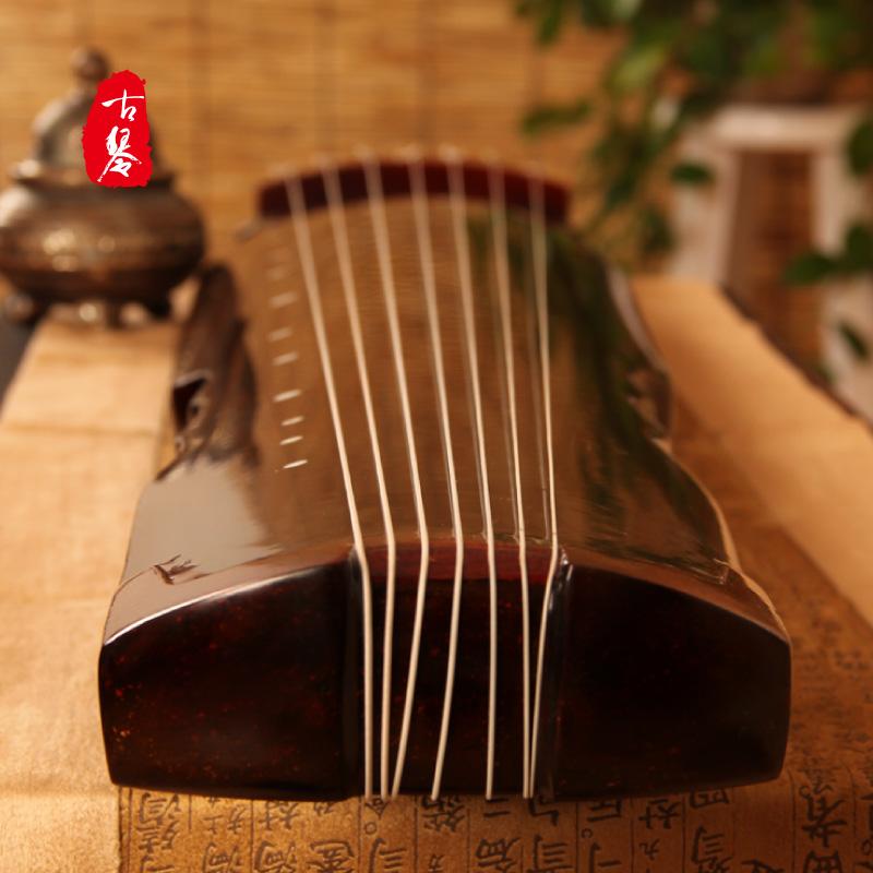 老桐木初学入门练习古琴演奏仲尼式伏羲式古琴包邮送全套配件