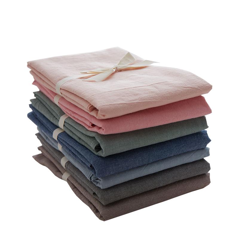 无印水洗棉床单单件纯棉纯色单人双人棉布被单1.5/1.8m床笠全棉夏