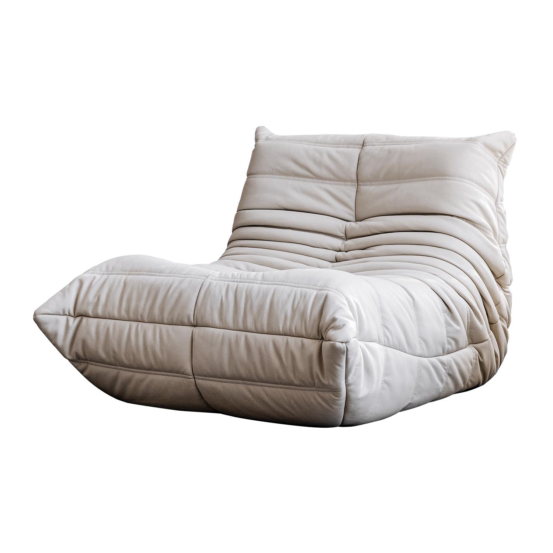 毛毛蟲懶人真皮沙發簡約落地單人躺椅 togo 北歐網紅博主同款 就坐