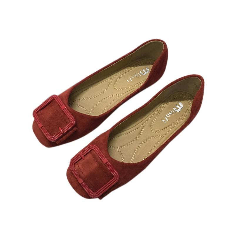 43 41 春季新款韩版平底鞋女浅口单鞋软底蛋卷鞋小码女鞋大码 2021
