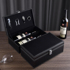 Red wine packaging gift box high-end wine box 2 double bottles wine empty box packaging box general leather box wine box box