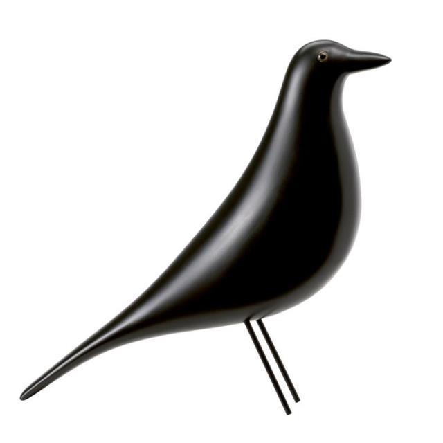 簡約小鳥電視櫃擺件時尚軟裝展廳樣板房玄關黑白北歐鳥客廳裝飾品