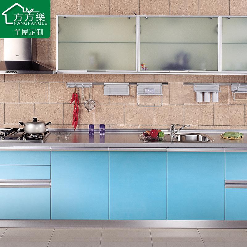 合肥304不锈钢整体橱柜台面  橱柜门板实木铝合金晶钢门橱柜订制