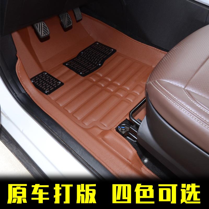 2017款比速汽车T5/M3专用七座7座全包围五座5改装防水脚垫全17新