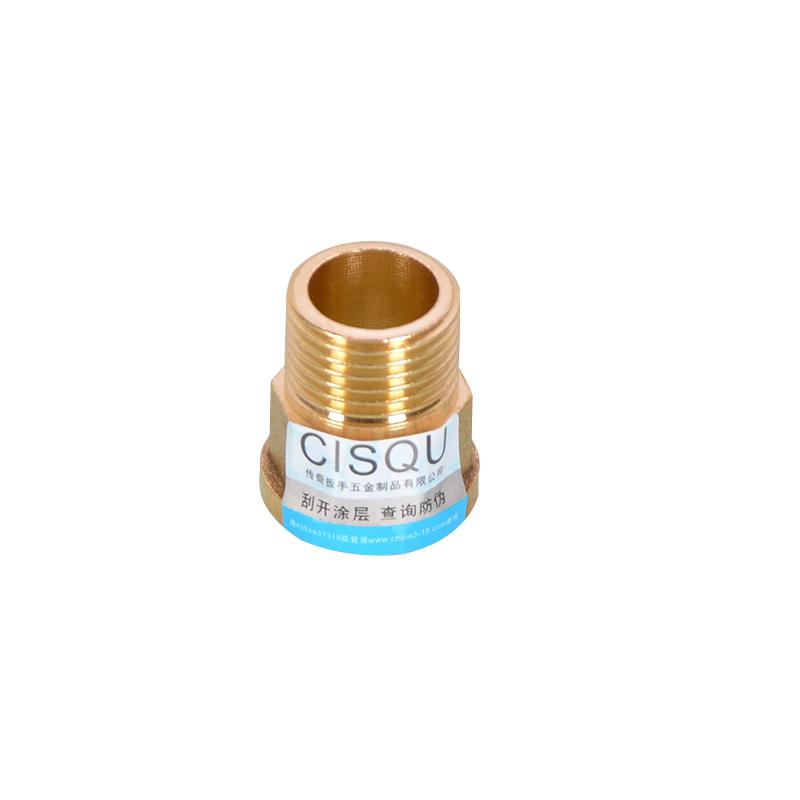 全铜加厚内外丝直接4分6分1寸加长延伸接头4分外丝转6分内丝直通