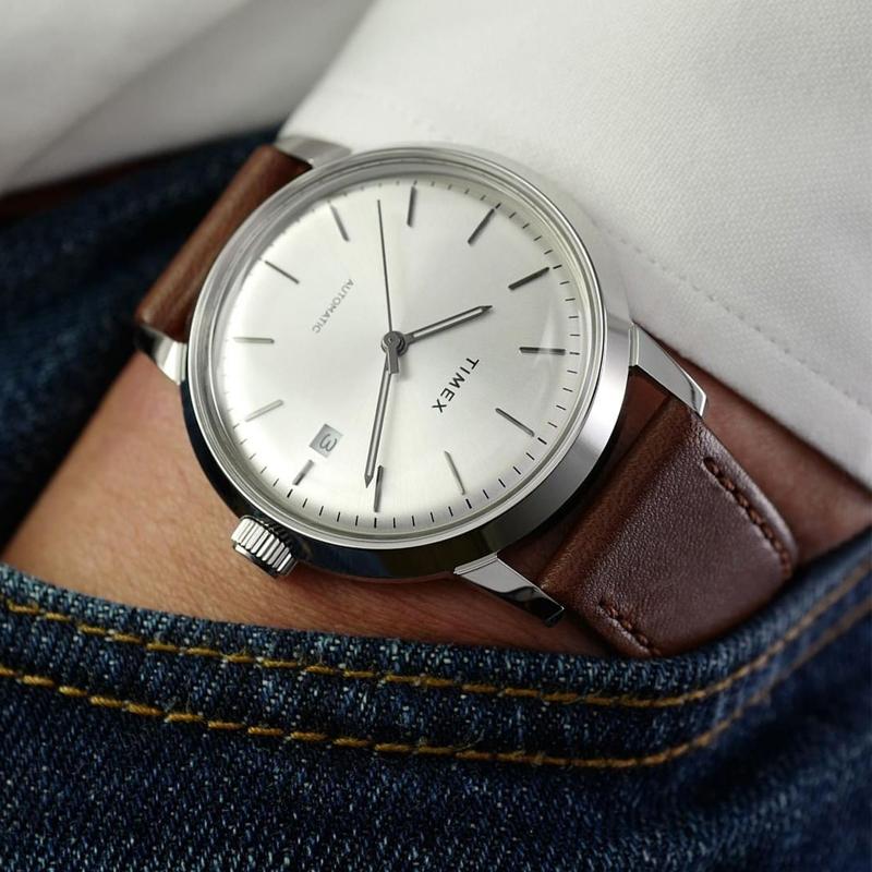 美国TIMEX天美时新款手表男 防水全自动镂空机械表商务时尚男表