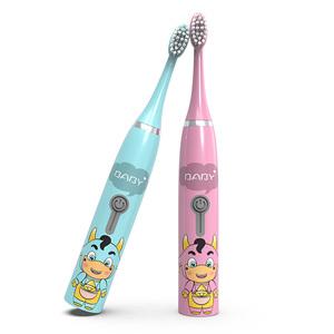 朗悦儿童电动牙刷卡通软毛2-3-5-6-7-8-9-12岁小孩家用全自动牙刷