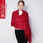 上海故事大红色围巾女秋冬季新年礼