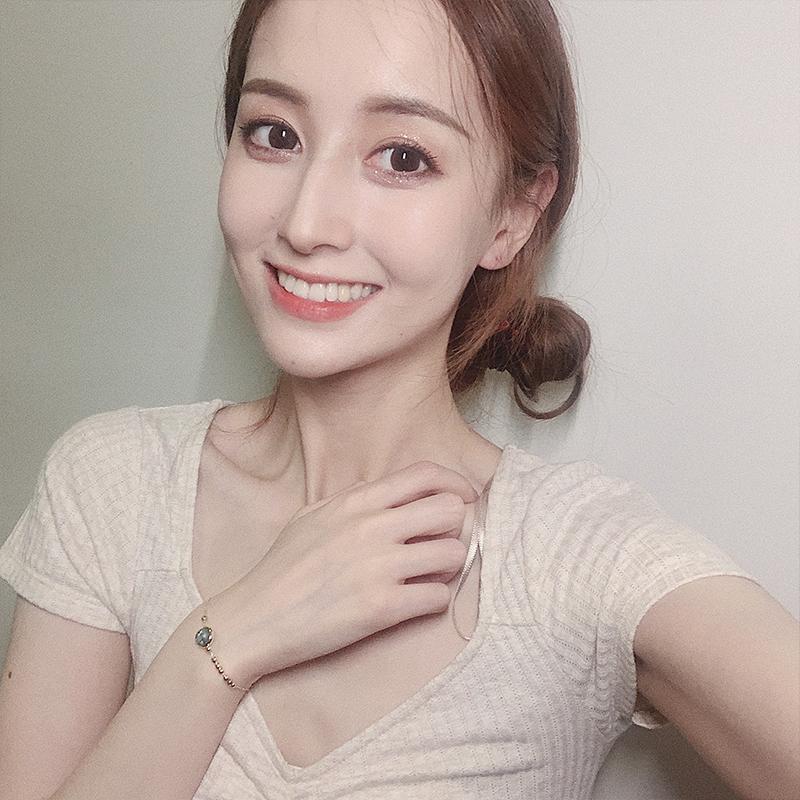 S235 韩版清新森系转运珠手链女学生简约情侣闺蜜个姓小红设计手饰
