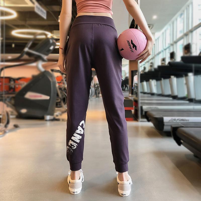 运动裤女宽松夏薄款透气束脚速干透气高腰显瘦休闲跑步瑜伽健身裤