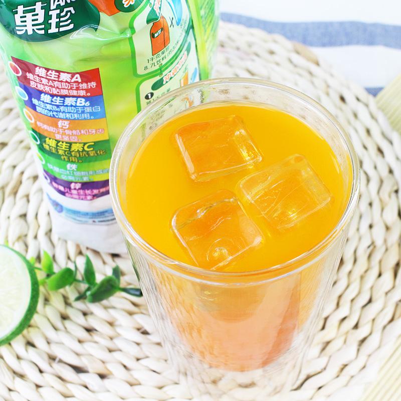卡夫果珍冲饮果汁粉固体饮料速溶橙子粉1000g袋装原料甜橙汁味