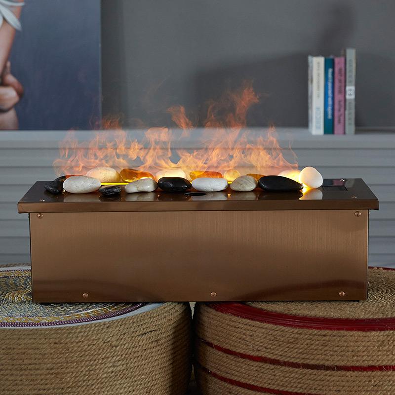现代装饰壁炉 3D 嵌入式雾化壁炉 LED 电子 欧式仿真火雾化电壁炉芯