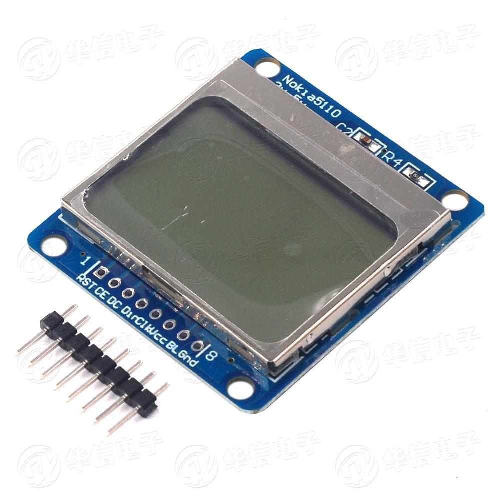 Nokia 5110 LCD(藍屏)諾基亞液晶屏模組提供驅動程式