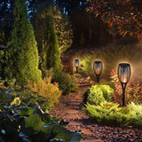 Solar outdoor wall lamp torch flame torch lights garden lawn garden lights inserted
