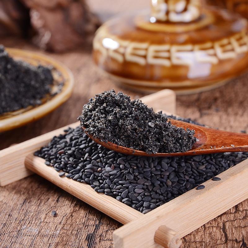 现磨纯熟黑芝麻粉纯现磨纯黑芝麻粉纯即食500g包邮
