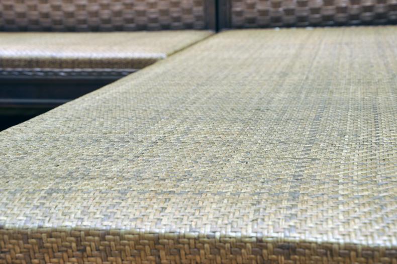 长青堂 藤木沙发茶几组合小户型客厅L型东南亚休闲藤沙发椅子套件