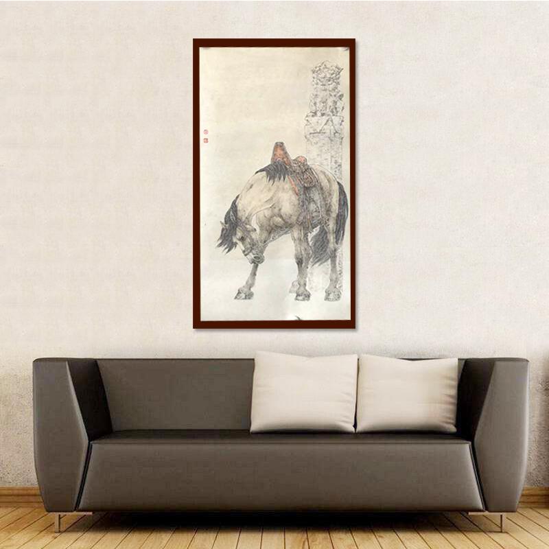 國畫水墨書畫陳云鵬字畫真跡宣傳作品出版物動物寫意駿馬畫裝飾畫