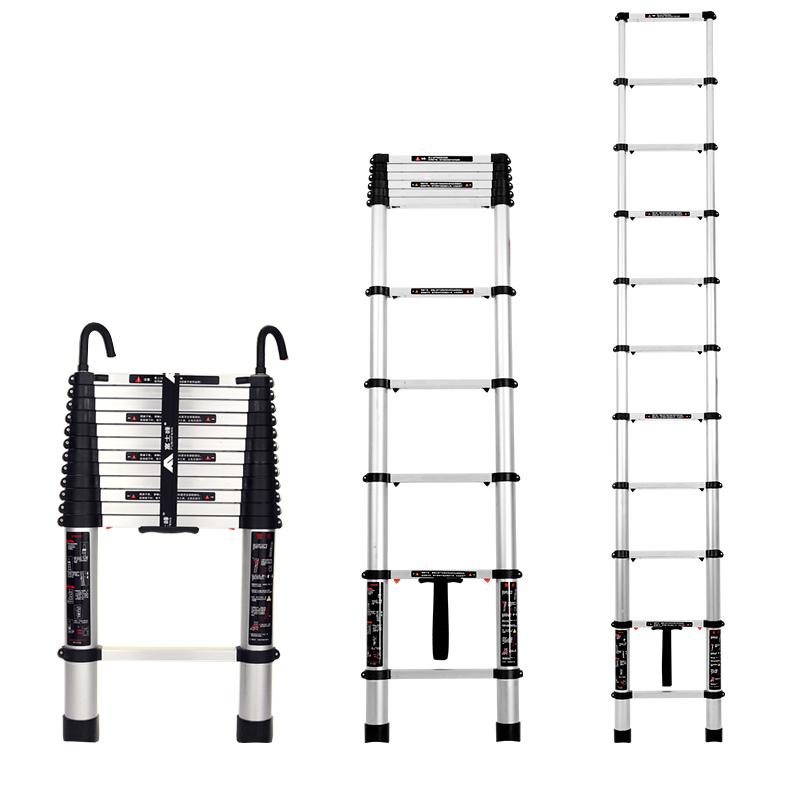 富士峰铝合金伸缩梯折叠人字梯加厚工程阁楼梯子家用梯升降梯直梯