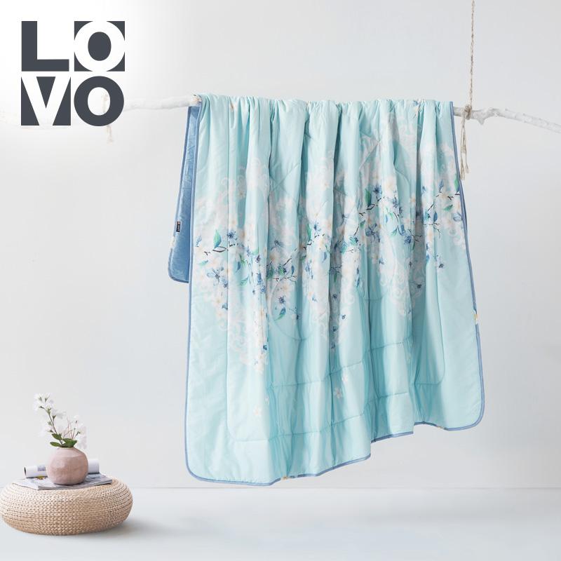 lovo家纺夏季全棉空调被纯棉夏凉被单双人被芯春秋被薄被子