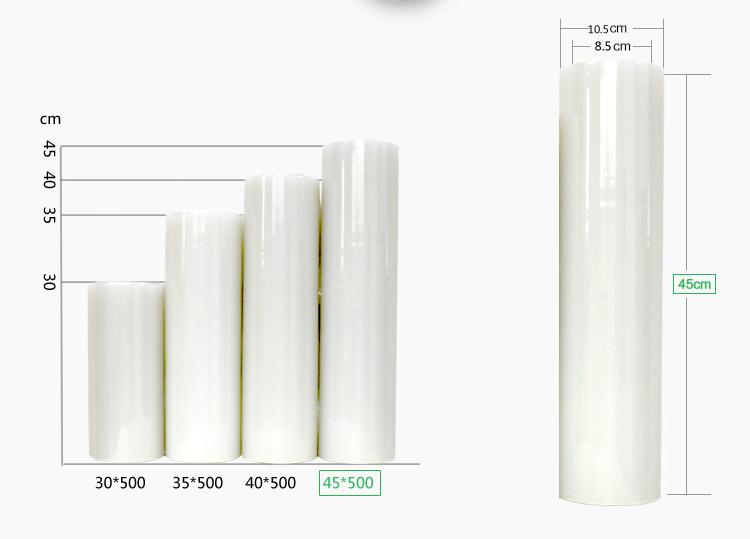 金牛来500M大卷PE加厚PVC保鲜膜超市水果蔬菜冷藏厨房食品家用膜