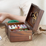 Household sewing box sewing kit sewing kit sewing tool storage box handmade wooden sewing box married
