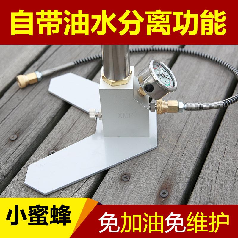 小蜜蜂高压打气筒40map手动型三四级超强气动全铜高压30mp不锈钢