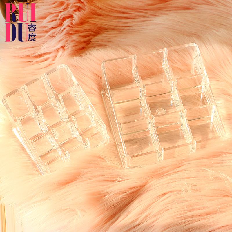 透明桌面化妆品收纳盒口红架护肤品棉签收纳多格置物架化妆筒刷