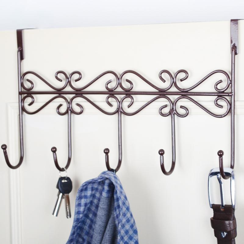 免打孔門後掛鉤置物架掛衣服鉤掛衣架廚房浴室門上免釘掛鉤牆壁掛