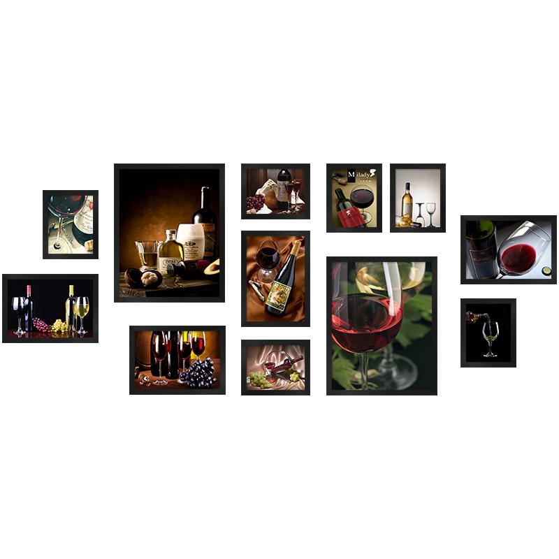 葡萄酒啤酒餐厅酒店装饰画酒吧酒庄吧台挂画酒窖红酒壁画组合