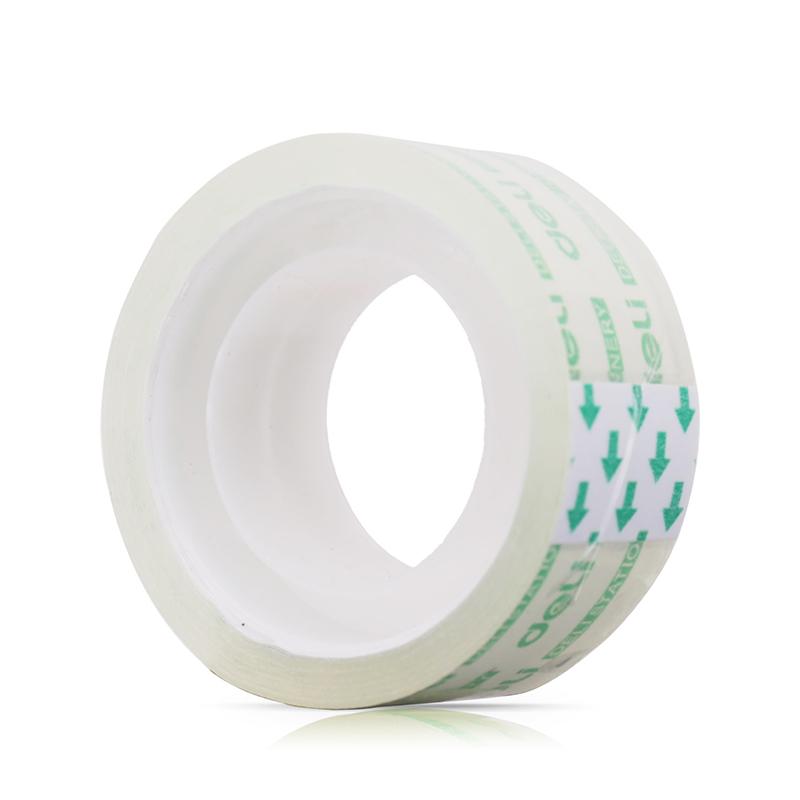 得力文具透明胶带小号胶布1.2cm学生手撕胶纸1.8cm强力窄胶条批发