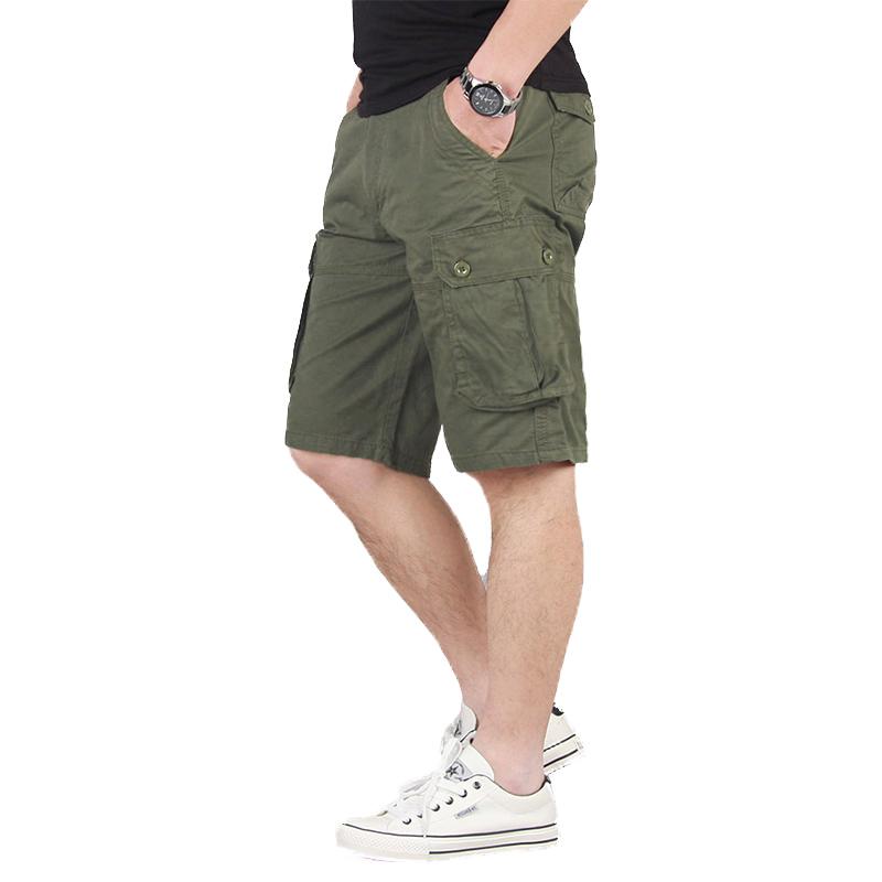 夏季薄工装裤裤子男士休闲裤五分裤运动裤直筒宽松中裤潮短裤男裤