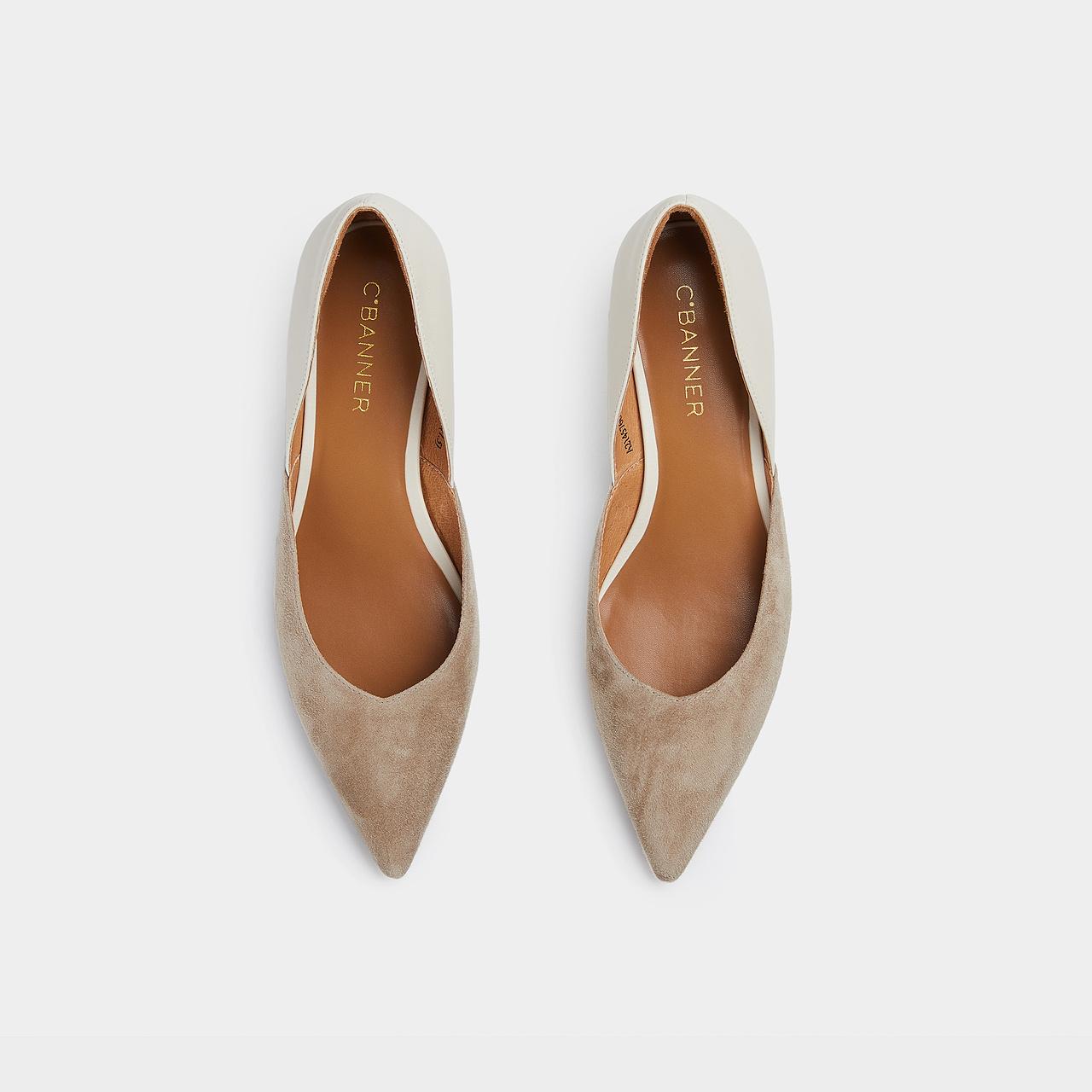 秋季新款优雅羊绒单鞋软底中跟细跟浅口尖头正品 2021 千百度女鞋