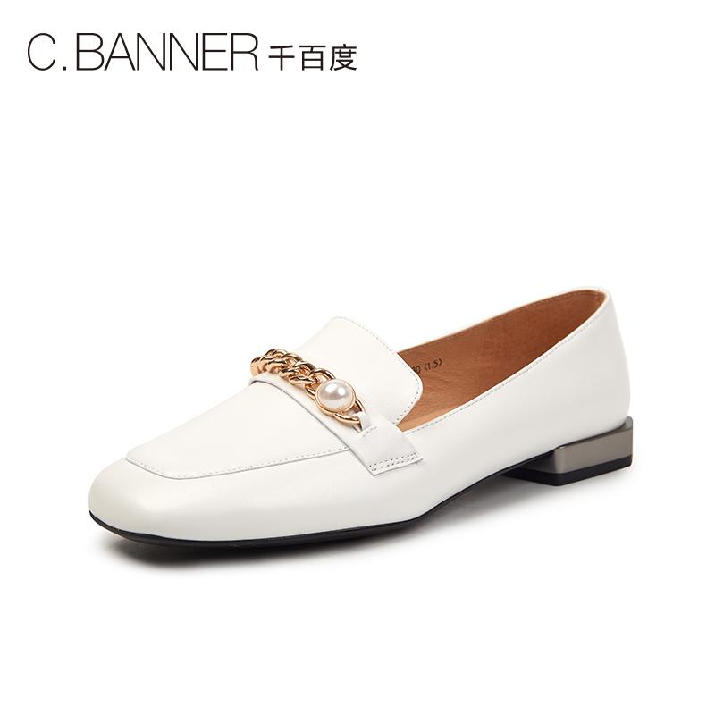 A9113722WX 春新商场同款简约低跟乐福鞋女鞋 2019 千百度 C.BANNER