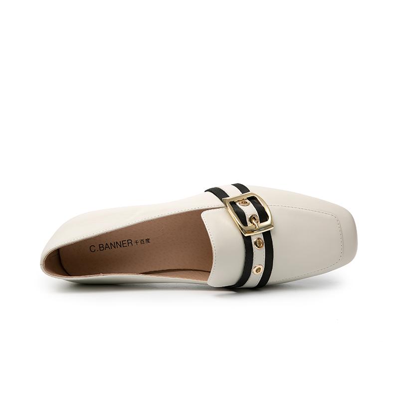 A8409173WX 秋新商场同款低跟女鞋单鞋穆勒鞋 2018 千百度 C.BANNER