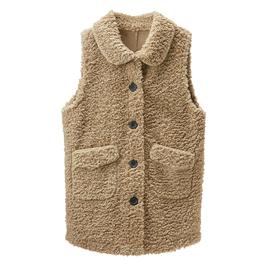 羊羔毛马甲女士中长款2019新款冬韩版皮毛一体背心外穿马夹外套潮