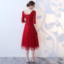 孕妇敬酒服2019秋季新款红色大码高腰新娘结婚礼服回门服晚礼服女