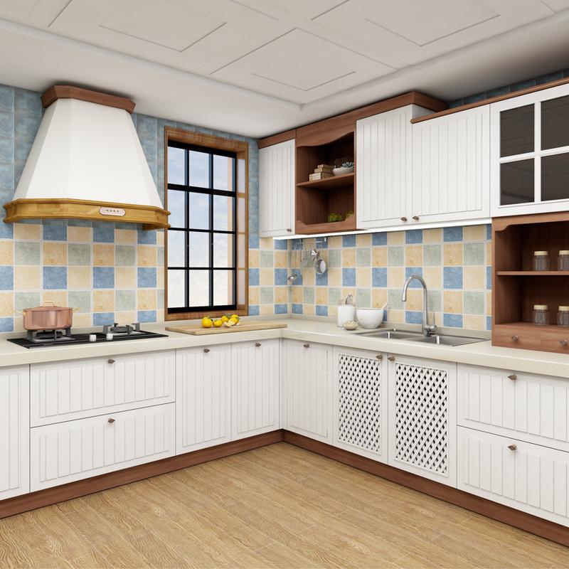 欧派橱柜定做整体厨房家用组装石英石台面北欧厨柜灶台柜预付金