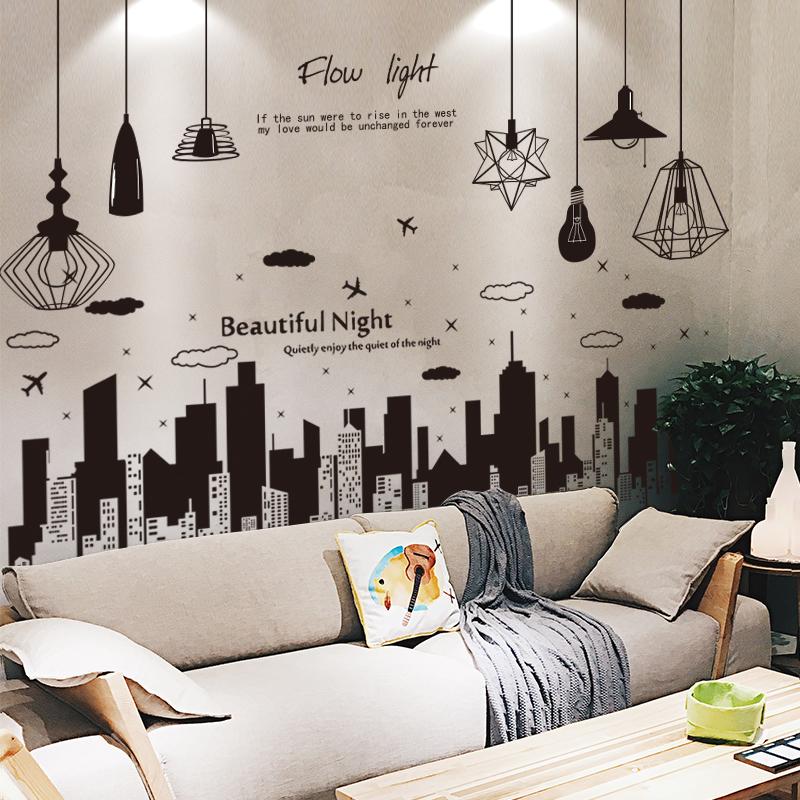 3D卧室墙贴纸贴画房间背景墙纸壁纸自粘宿舍创意个性墙面装饰海报