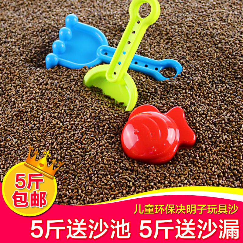 儿童决明子玩具沙池套装家用散装枕芯装宝宝沙滩玩沙子大颗粒室内