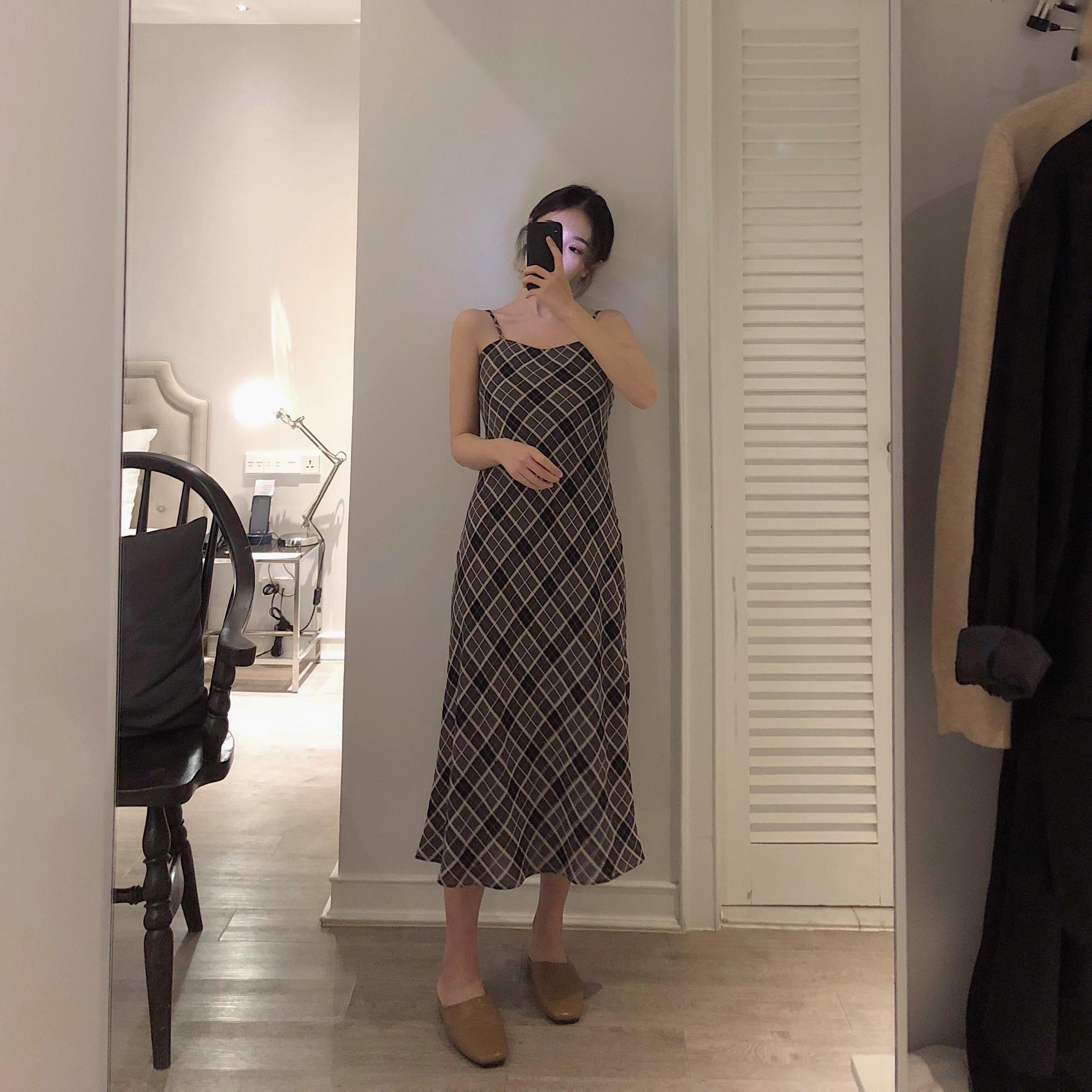 艺米YIMI定制2019春装新款中长款吊带裙女很仙的法国小众连衣裙