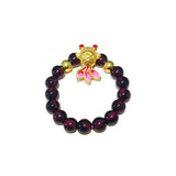 Golden wave fish foot gold 999 wave fish bracelet color-changing paint hand string garnet ring K goldfish set chain