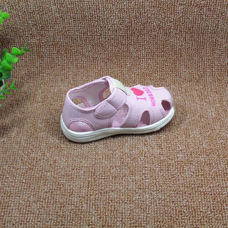 足圣新款童鞋男童宝宝凉鞋学步鞋女童2017夏季软底包头机能鞋子