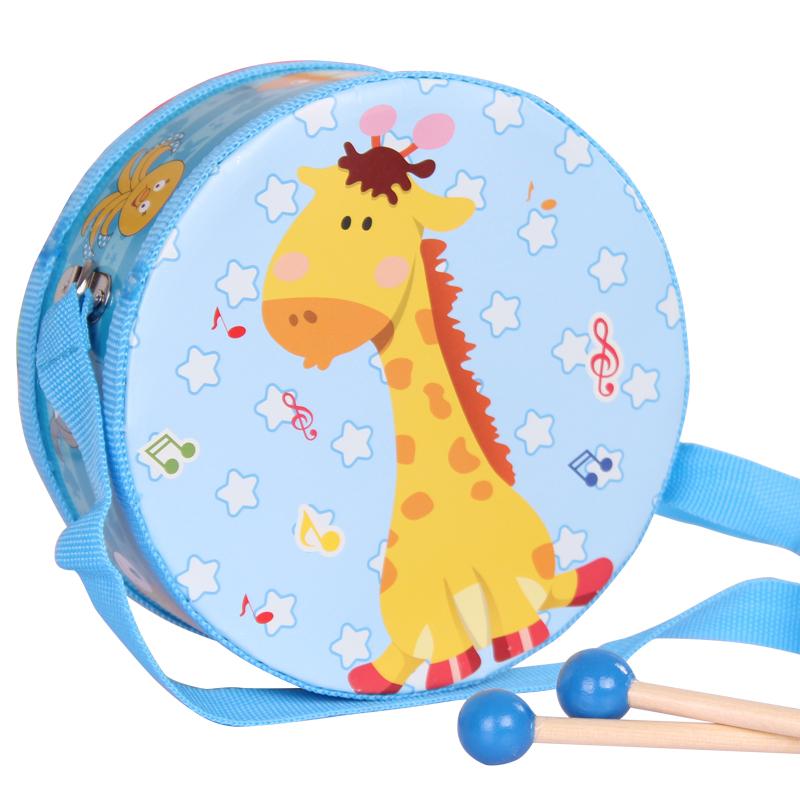 儿童手拍鼓玩具小鼓腰鼓军鼓宝宝婴儿敲鼓男女孩0-3岁奥尔夫乐器
