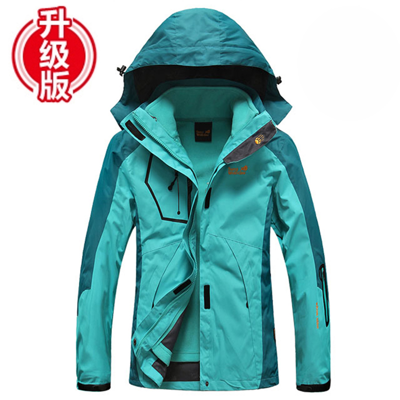 冲锋衣男三合一冬季加厚可拆卸两件套防水透气户外登山服男女风衣