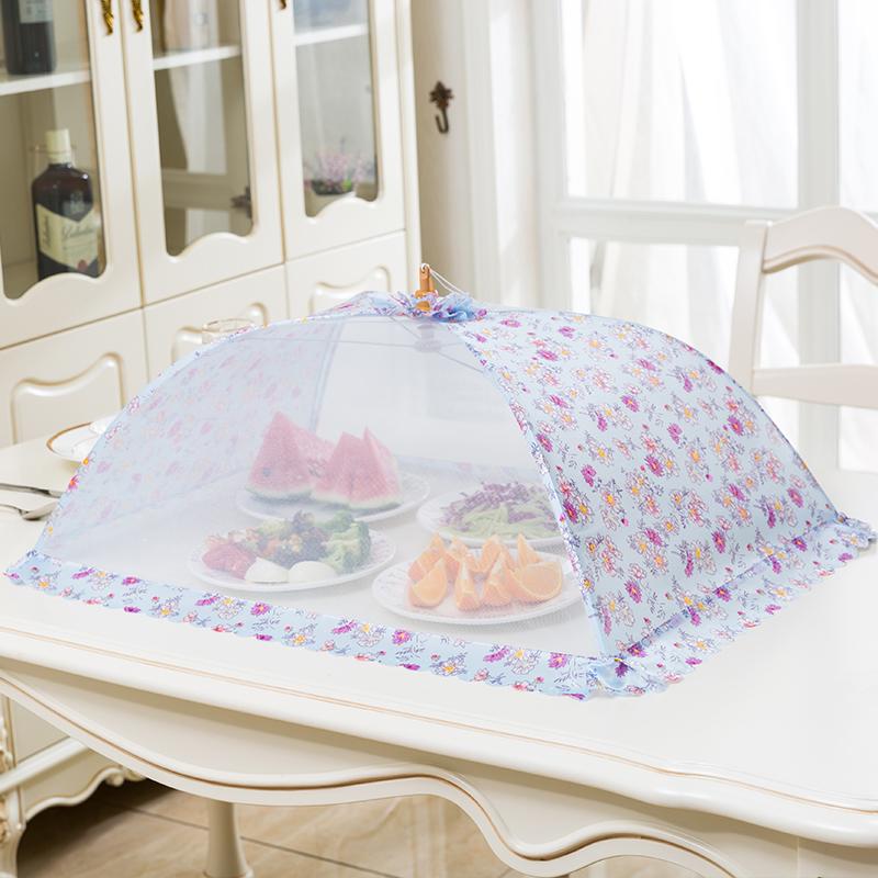 盖菜罩食物罩 防苍蝇饭菜罩 长方形菜罩可折叠防尘罩厨房碗罩